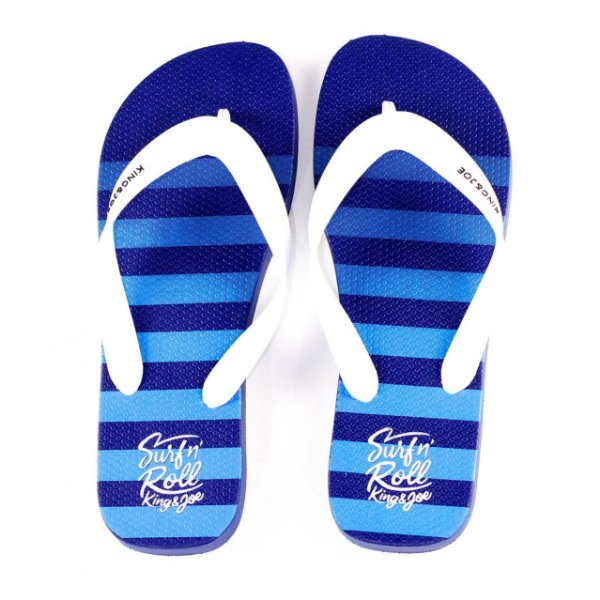 Chinelo King e Joe Azul Com Listras