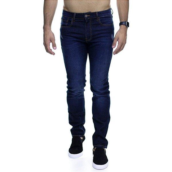 Calça Jeans Calvin Klein Marinho Derstroyed Slim