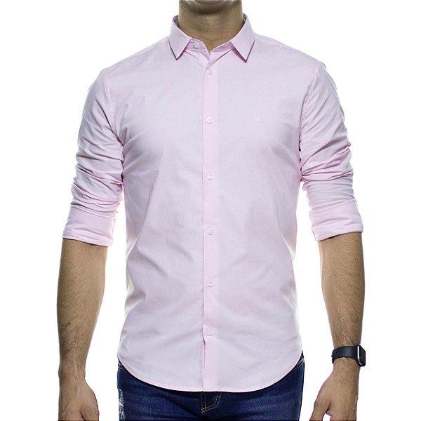 Camisa Social King e Joe Rosa Basica Regular Fit