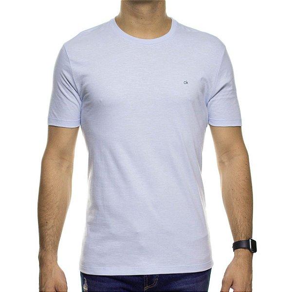 Camiseta Malha Calvin Klein Azul Clara Basica