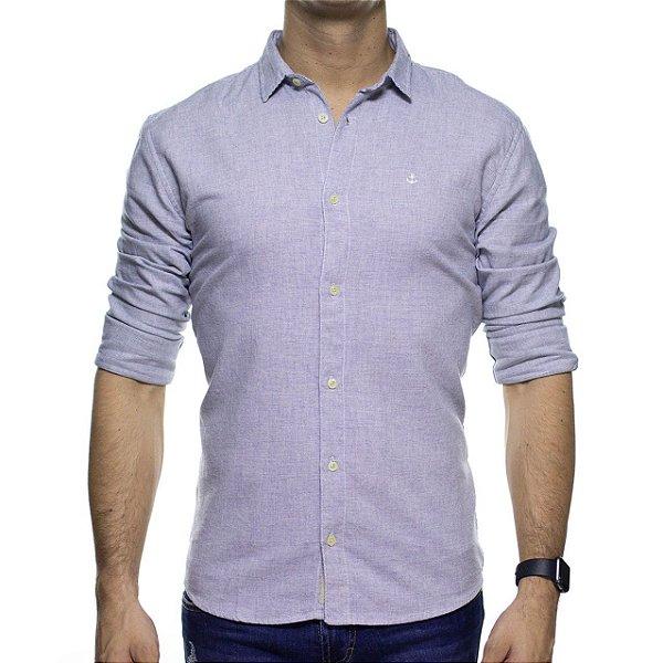 Camisa Social King e Joe Micro Estampa Branca Regular Fit
