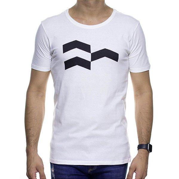 Camiseta de Malha Urbô Símbolo Gráfico Off White