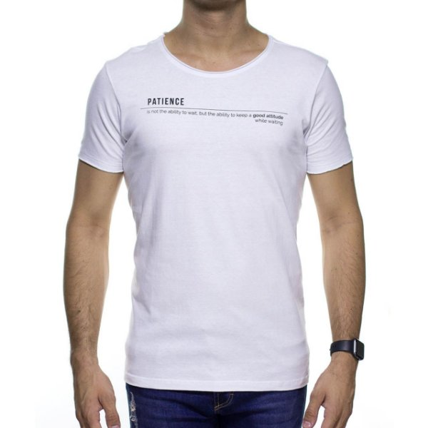 Camiseta de Malha Urbô Patience Branca