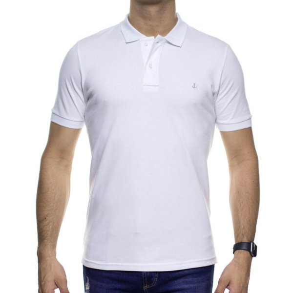 Camisa Polo King e Joe Branca Basica