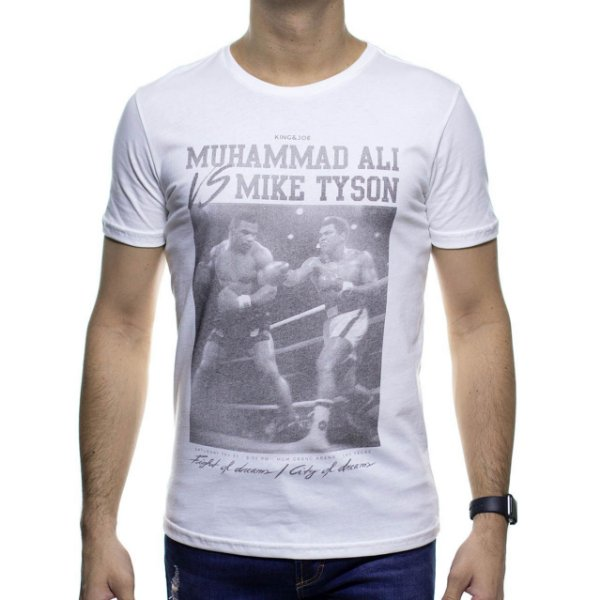 Camiseta Malha King e Joe Off White Muhammad Ali