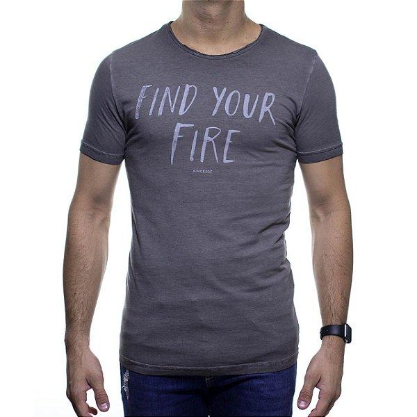 Camiseta Malha King e Joe Find Your Fire Chumbo