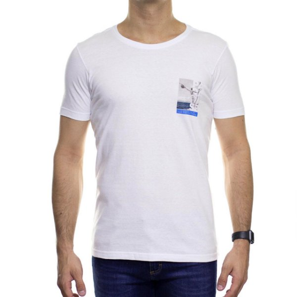 Camiseta de Malha Urbô Go To Paradise Branca