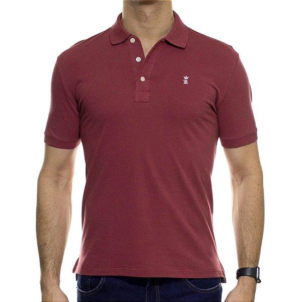 Camisa Polo Sergio K Basica Bordô Destonado