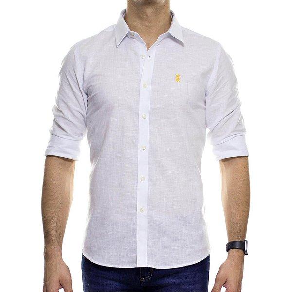 Camisa Social Sergio K Linho Branca