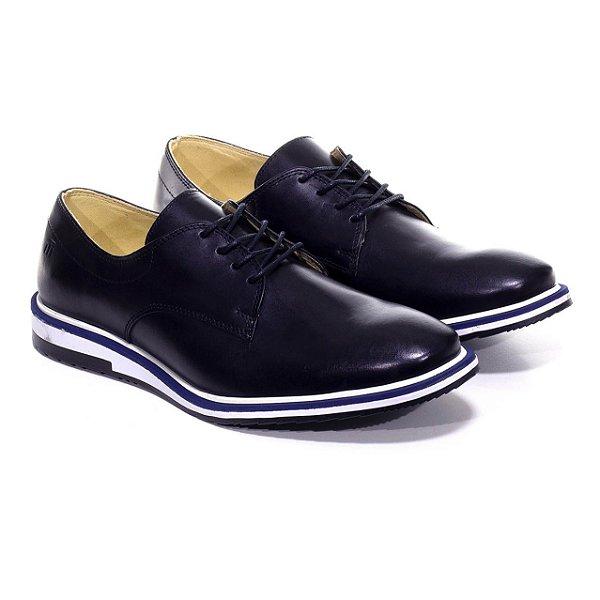 Sapato Derby Sola Tri Napa Preto