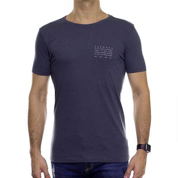 Camiseta de Malha Urbô Harmony Eco Chumbo