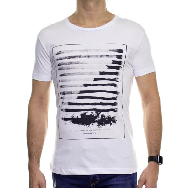 Camiseta de Malha Saultin You Are Branca Gola Careca