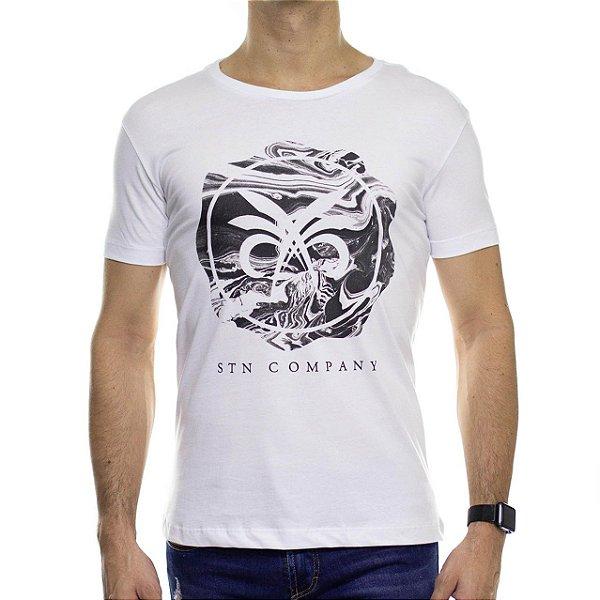 Camiseta de Malha Saultin Seal Branca Gola Careca
