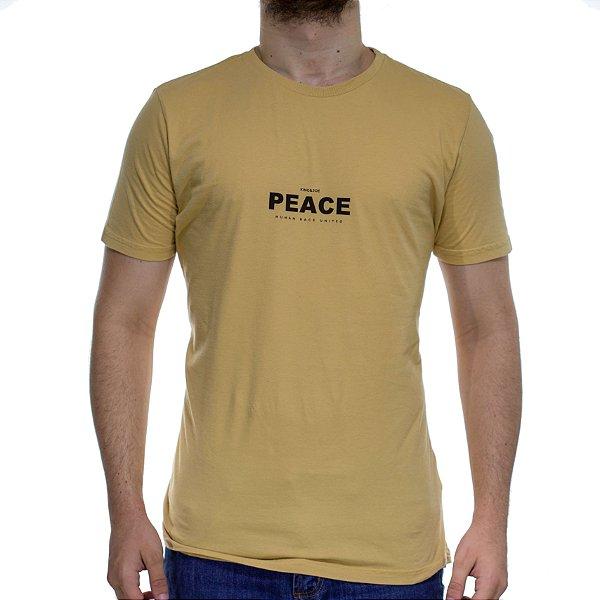 Camiseta Malha King e Joe Fio 40 Peace Amarelo