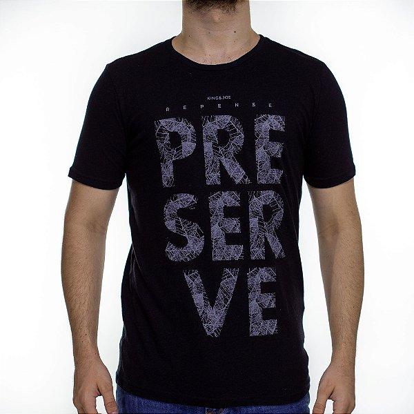 Camiseta Malha King e Joe Preserve Preta