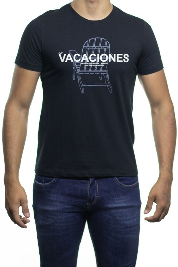 Camiseta Malha Sergio K Vacaciones Chair Preta