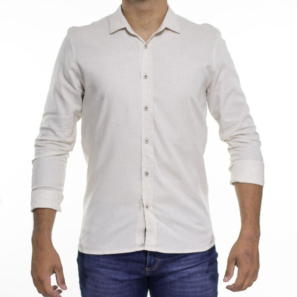 Camisa Social Urbô Pure Nature Off White