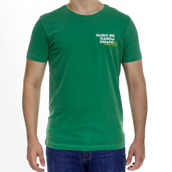 Camiseta Malha King e Joe Stonada Outro Ponto de Vista Verde