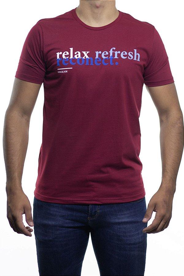 Camiseta Malha King e Joe Relax Refresh Reconect Bordo