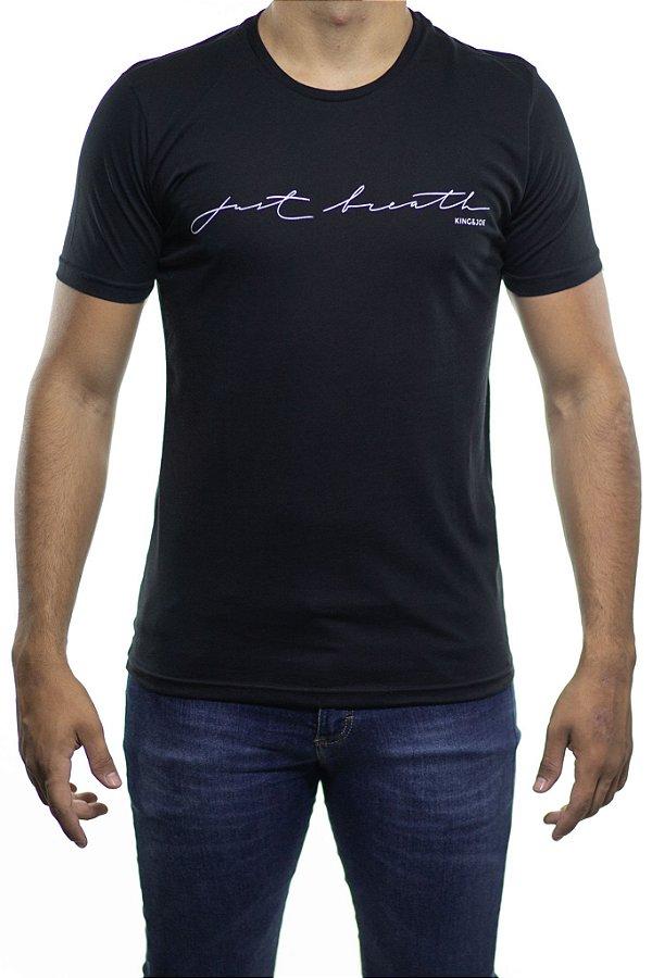 Camiseta Malha King e Joe Black N'Black Just Breath Preta