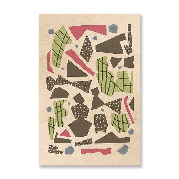 Quadro de Madeira - Abstract Shapes