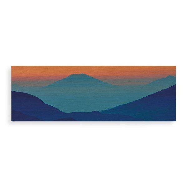 Quadro de Madeira - Blue Sunrise