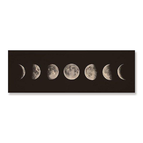 Quadro de Madeira - Fases da Lua Panorâmico