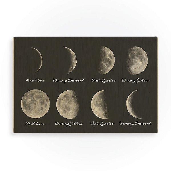Quadro de Madeira - Moon Phases