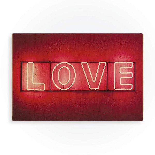 Quadro de Madeira - Love Red Light