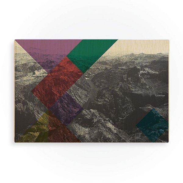 Quadro de Madeira - Grand Canyon Geometric