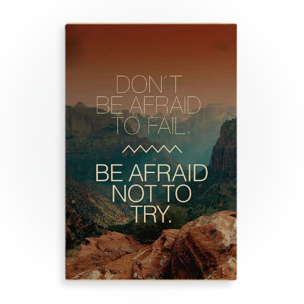 Quadro de Madeira - Don't be afraid to fail