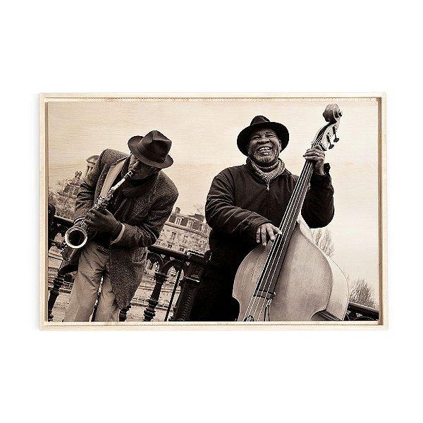 Quadro de Madeira - Jazz