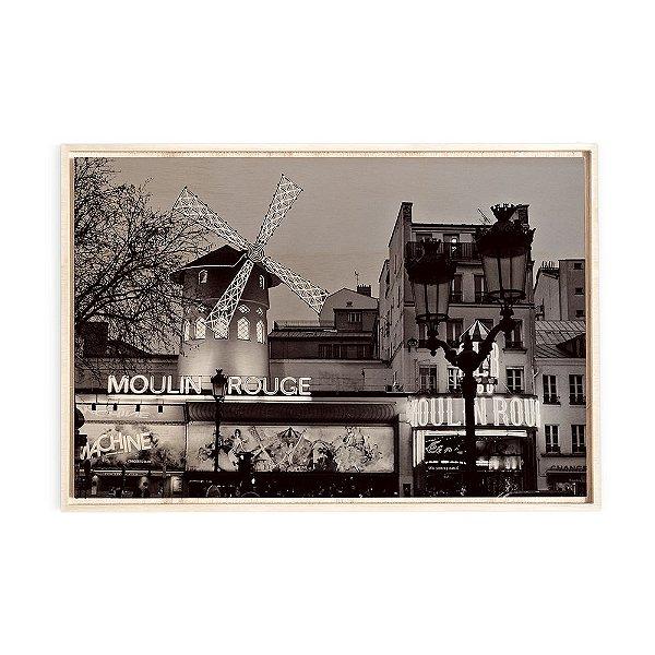 Quadro de Madeira - Moulin Rouge Machine