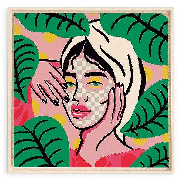 Quadro de Madeira - Beauty Mask