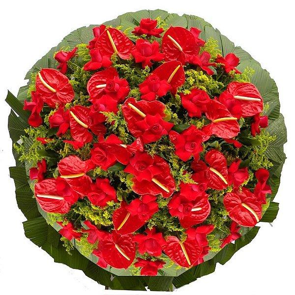 J - Coroa de Flores Amor Eterno