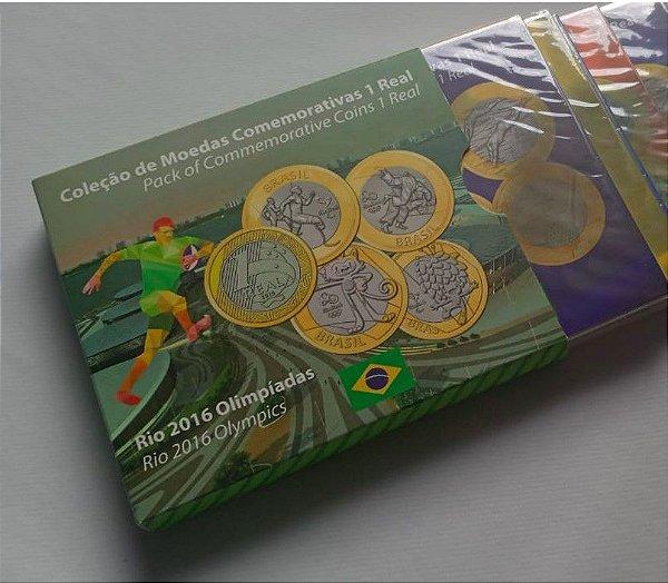 16 Moedas Olímpicas em cartelas - CARTELA NÃO OFICIAL