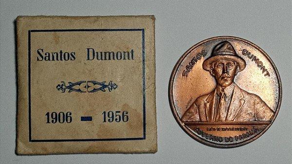 MEDALHA DE SANTOS DUMONT, HOMENAGEM DO PARANÁ – 1956