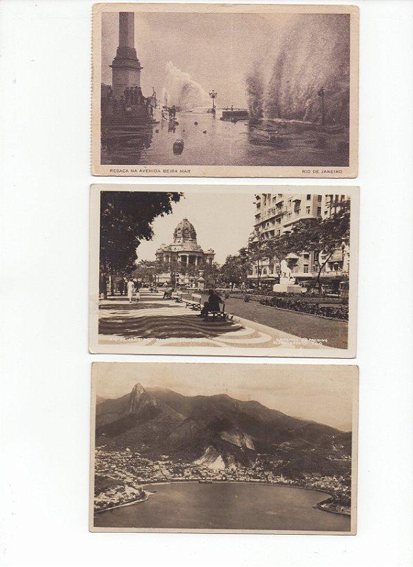 3 Cartões Postais do Rio de Janeiro dos anos 30