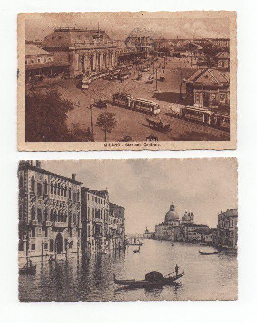2 Cartões Postais da Itália dos anos 20/30
