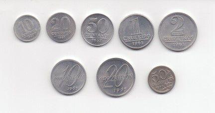 Série Cruzeiro 10, 20, 50 centavos - 1, 2, 10, 20, 50 Cruzeiros