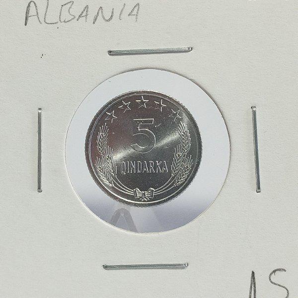 Moeda da Albania - 5 Qindarka 1964