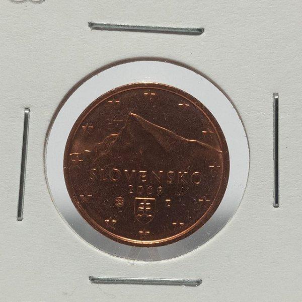 Moeda da Eslováquia - 2 cents - 2002