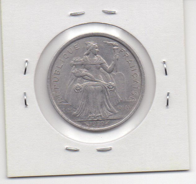 Moeda da Polinésia Francesa 2 francos, 1979 - MBC