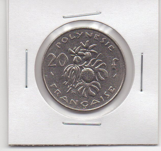Polinésia Francesa 20 francos, 1984 - MBC