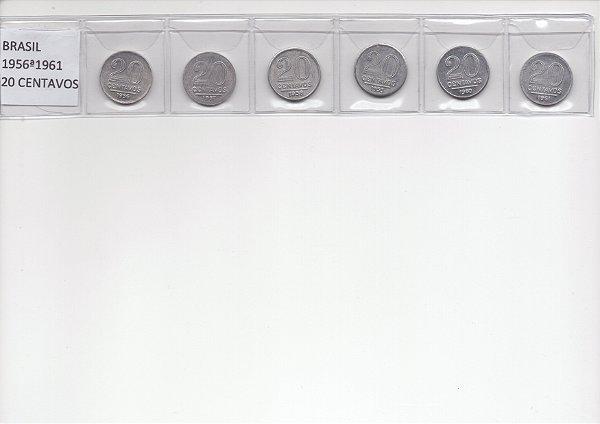 Série de Moedas de 20 Centavos de 1956 a 1961 - Alumínio