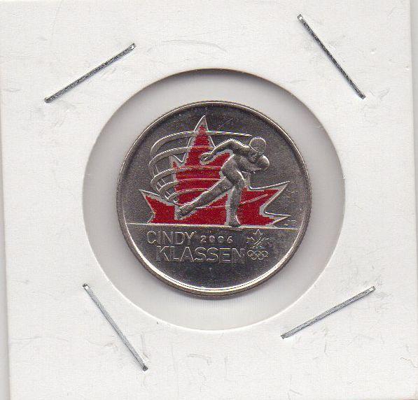 Moeda Canada - 25 Cents - Cindy Klassen