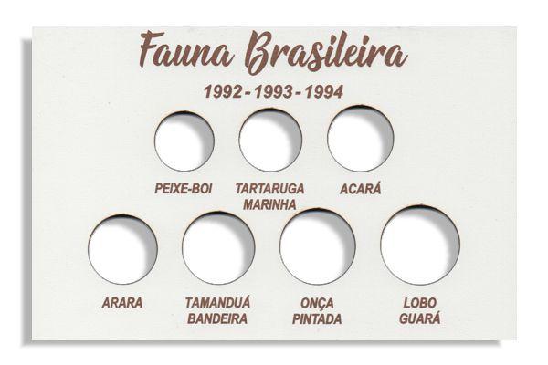 Placa de Madeira para série de moedas da Fauna Brasileira - Branca