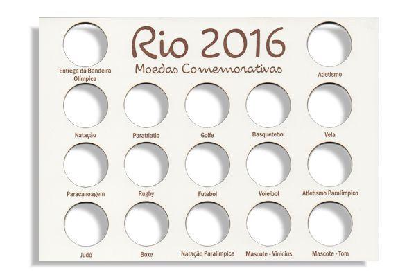 Placa de Madeira para série de moedas de 1 Real das olimpíadas