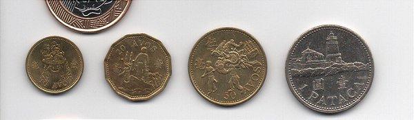 set de moedas do Macau