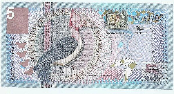 Cédula do Suriname 5 Gulden